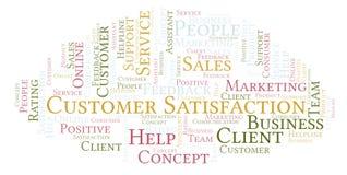 Nube de la palabra de la satisfacción del cliente ilustración del vector