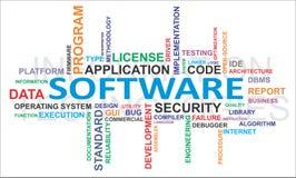 Nube de la palabra - software Fotos de archivo