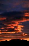 Nube de la puesta del sol Fotografía de archivo