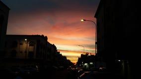 Nube de la puesta del sol foto de archivo libre de regalías