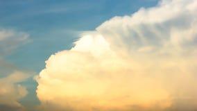 Nube de la puesta del sol Imágenes de archivo libres de regalías