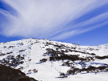 Nube de la telesilla de la cara de la montaña del SM Fotografía de archivo