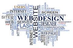 Nube de las etiquetas del diseño y del Web