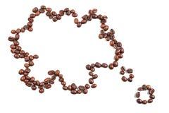 Nube de los granos de café Foto de archivo libre de regalías