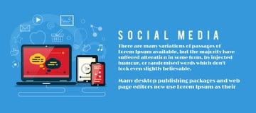 Nube de los iconos de la aplicación Media sociales Fotografía de archivo