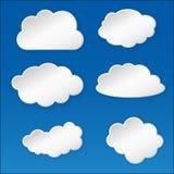 Nube de papel Foto de archivo