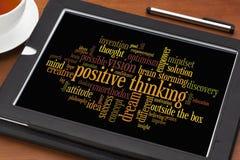 Nube de pensamiento positiva de la palabra Foto de archivo libre de regalías