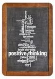 Nube de pensamiento positiva de la palabra fotografía de archivo libre de regalías