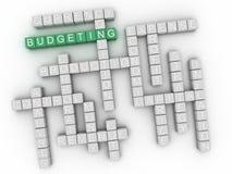 nube de presupuesto de la palabra del concepto 3d Fotografía de archivo