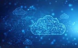 2.a nube de representación que computa, concepto de Cloud Computing, fondo de la tecnología fotografía de archivo libre de regalías