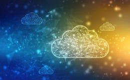 2.a nube de representaci?n que computa, concepto de Cloud Computing, fondo de la tecnolog?a foto de archivo libre de regalías