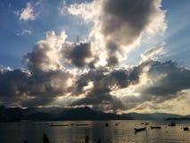 Nube de Sun n Foto de archivo libre de regalías