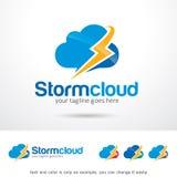 Nube de tormenta Logo Template Design Vector libre illustration