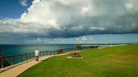 Nube de trueno sobre Coolangatta Fotos de archivo