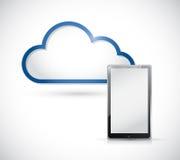 Nube del almacenamiento de la tableta y de la frontera. ejemplo Fotografía de archivo
