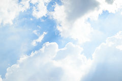 Nube del cielo azul Imagenes de archivo