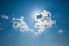 Nube del corazón Foto de archivo libre de regalías