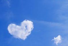 Nube del corazón Imagen de archivo
