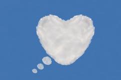 Nube del corazón, rectángulo de texto Fotografía de archivo libre de regalías