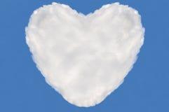 Nube del corazón, rectángulo de texto Foto de archivo