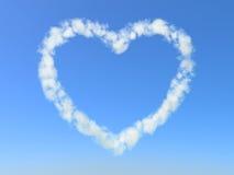Nube del cuore Immagine Stock