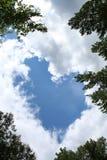 Nube del cuore Fotografia Stock