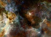 Nube del gas de la nebulosa en espacio exterior profundo ilustración del vector