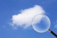 Nube del hallazgo Imagen de archivo libre de regalías