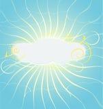 Nube del lado positivo ilustración del vector