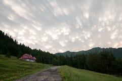 Nube del mammatus de la cumulonimbus Fotos de archivo libres de regalías