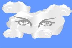 Nube del ojo ilustración del vector