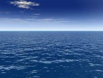 Nube del soplo sobre el mar Imagenes de archivo
