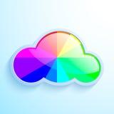 Nube del vector con el arco iris ilustración del vector