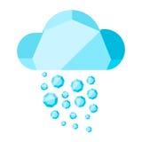 Nube del vector con lluvia del diamante Imagen de archivo libre de regalías
