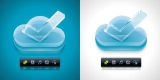 Nube del vector que computa el icono de XXL libre illustration
