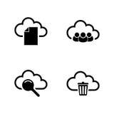 Nube del web Iconos relacionados simples del vector Foto de archivo