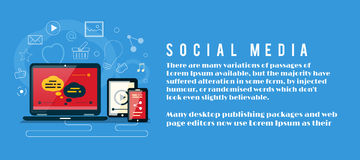 Nube delle icone di applicazione Media sociali illustrazione di stock