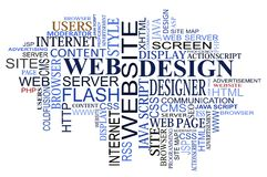 Nube delle modifiche di Web e di disegno Fotografia Stock