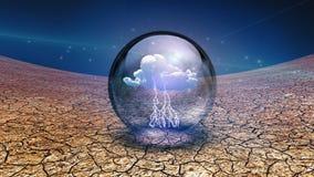 Nube dentro de la esfera ilustración del vector