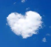 Nube di cuore immagine stock