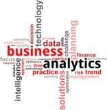 Nube di parola - analytics di affari Immagine Stock