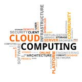 Nube di parola - computazione della nube Fotografie Stock