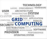 Nube di parola - computazione di griglia Immagine Stock