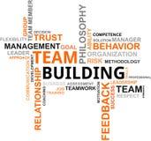 Nube di parola - costruzione di squadra Immagini Stock