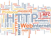 Nube di parola del HTTP Fotografie Stock