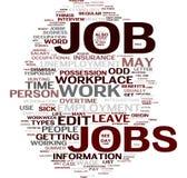 Nube di parola di job Fotografia Stock