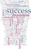 Nube di parola di successo illustrazione di stock