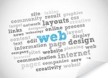 Nube di parola di Web Immagini Stock