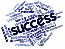 Nube di parola per successo illustrazione di stock