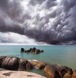 Nube di tempesta sopra il mare del sud Immagini Stock Libere da Diritti